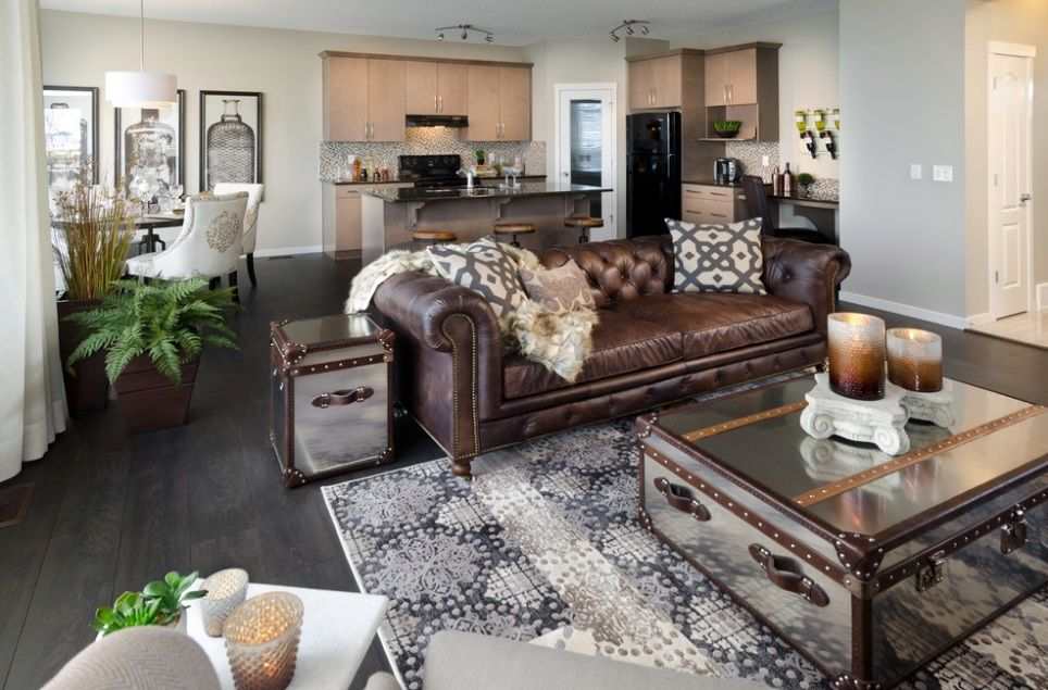 comfortable leather sofa design living room ideas