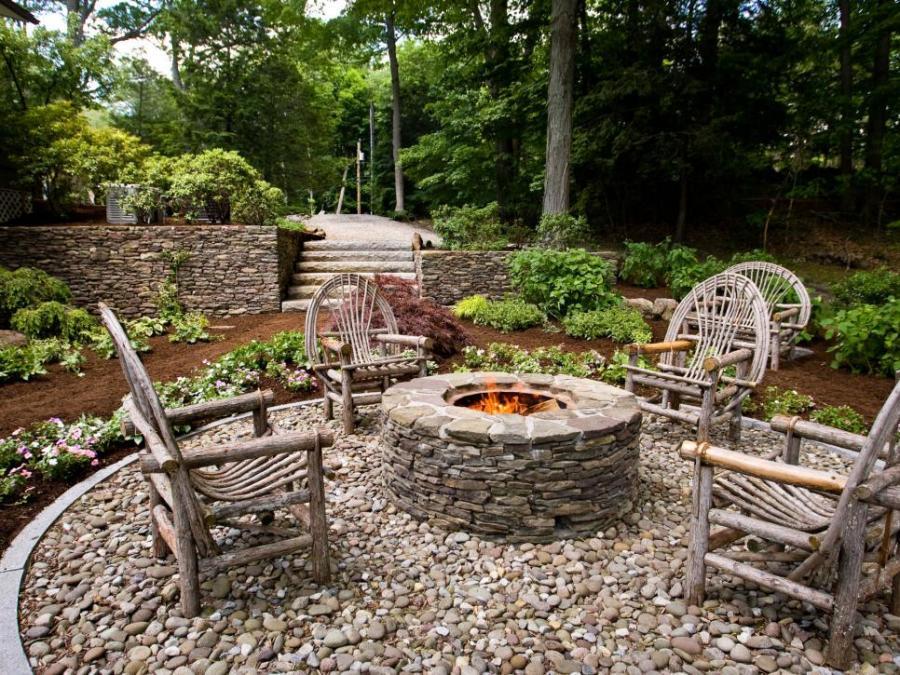 fire pit patio design