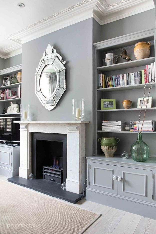 fireplace shelving