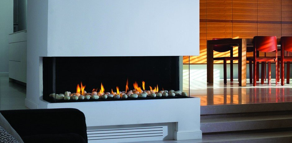 glass fireplace ideas decor