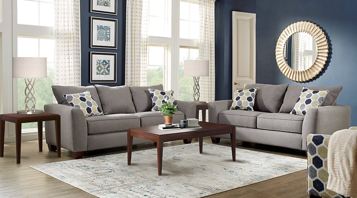 Modern design sofa - grey sofa design and style with minimalist wooden table
