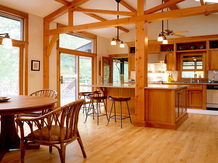 interior design living room wooden house