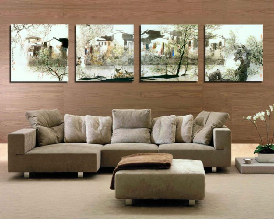living room design ideas with painting