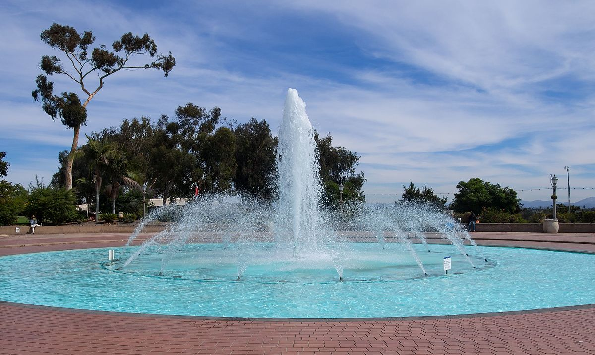 modern backyard fountain