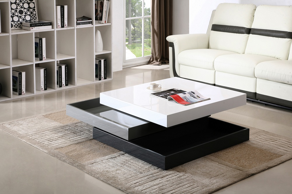 modern living room with multifunctional storage