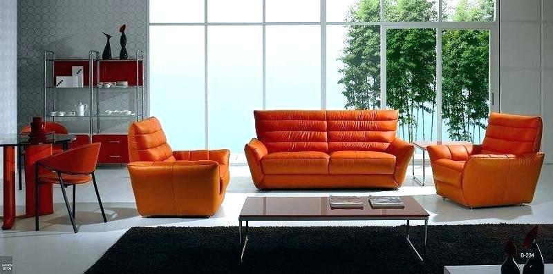 orange couch set inspiration living room design