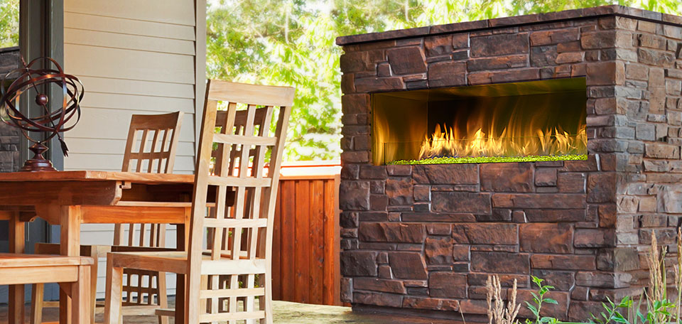 outdoor fireplace ideas with stone
