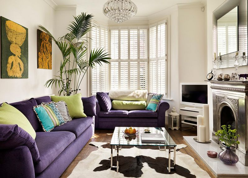 purple sofa design ideas and inspiration