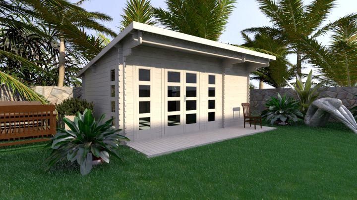 simple backyard cabin