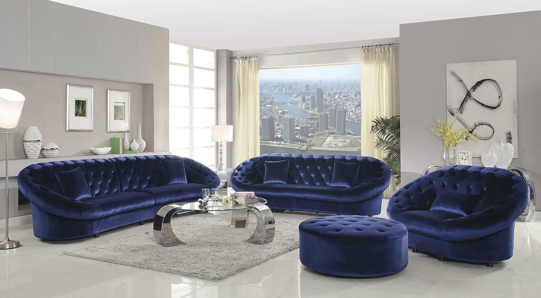 traditional royal blue sofa ideas