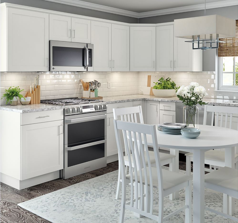 base cabinets in white