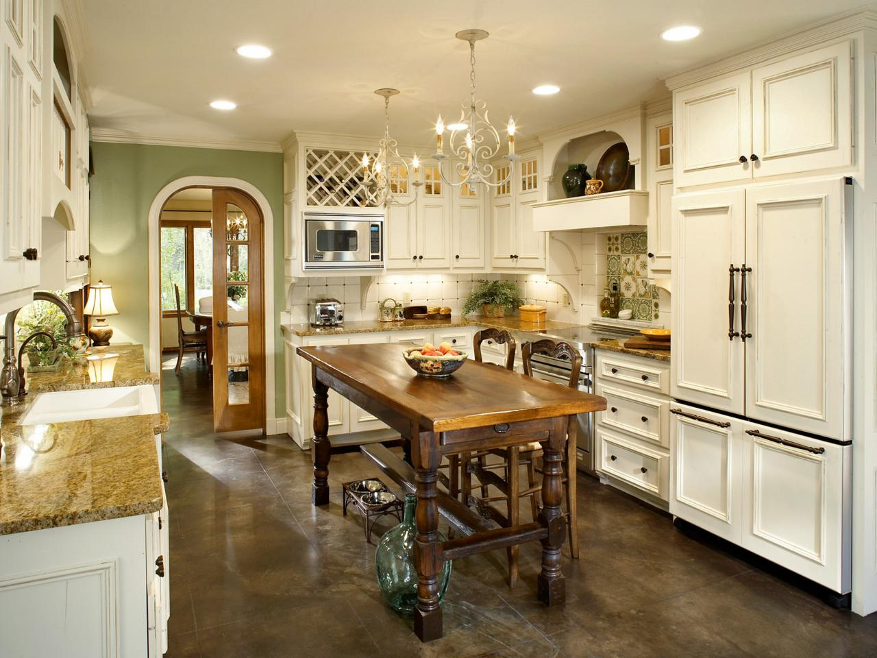 french country flooring kitchen