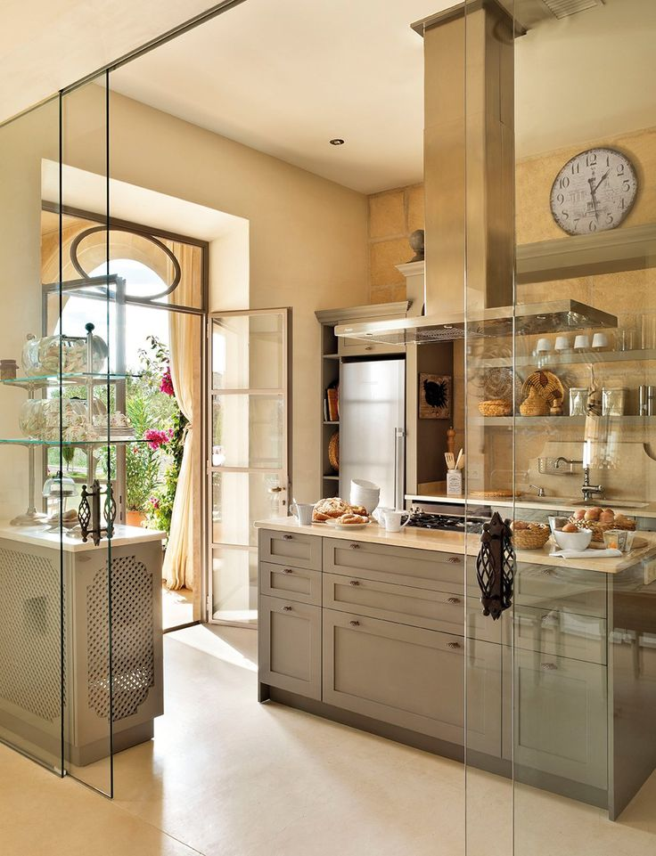 glass kitchen layout