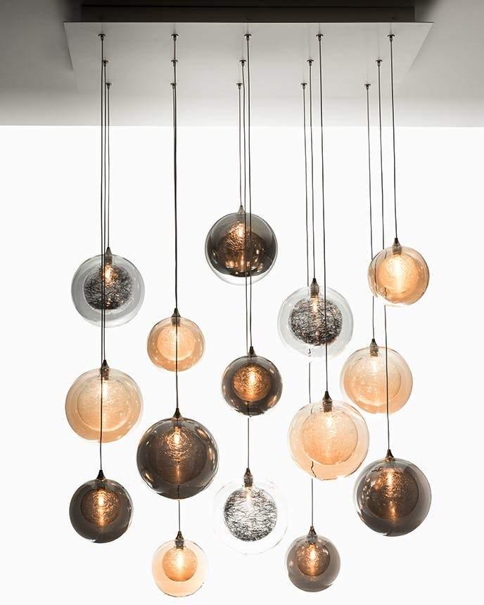 hanging glass lamp