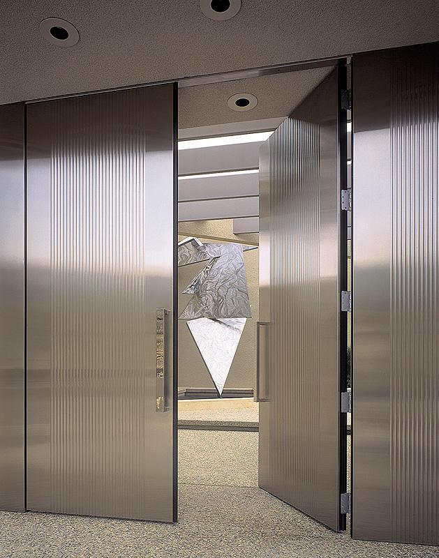 modern stainless steel design doors ideas