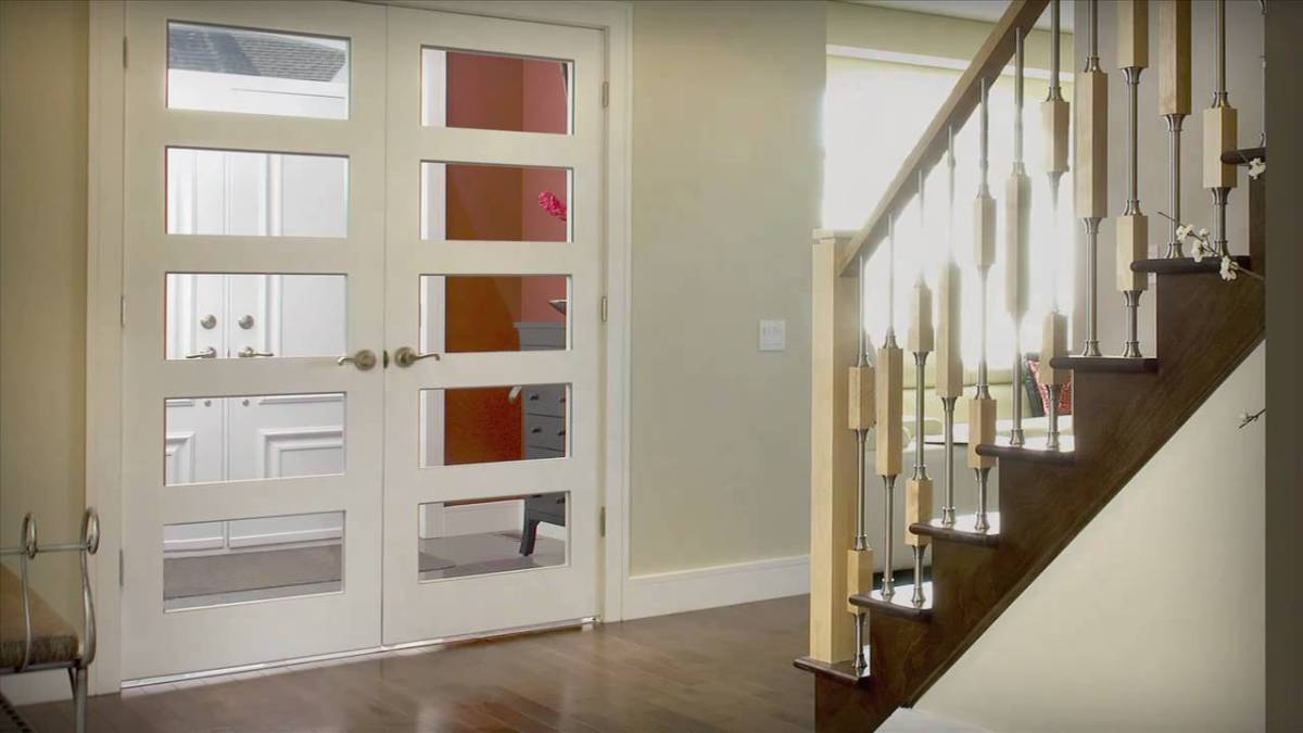 white design french door