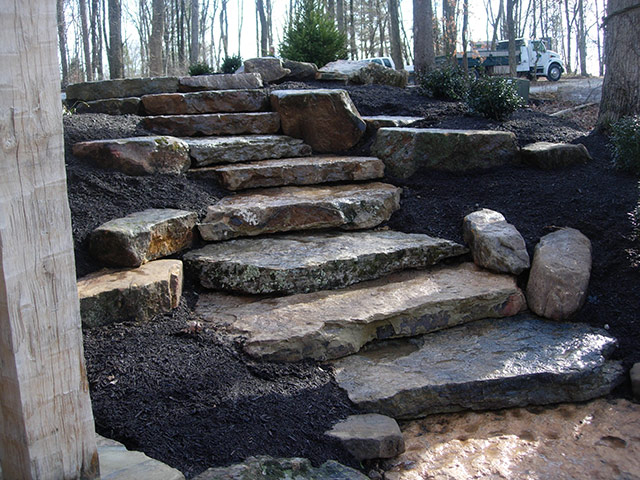 Garden Decoration with Stone and gravels