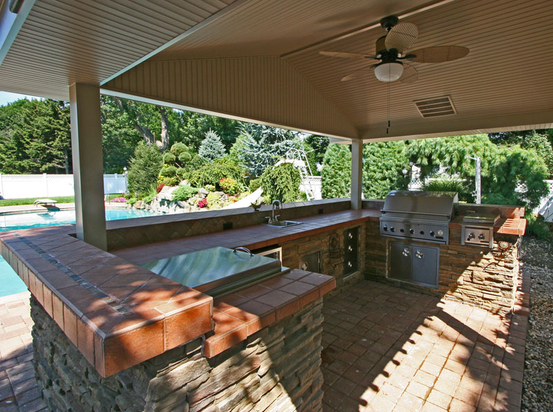 Luxury Outdoor Kitchen With BBQ Place