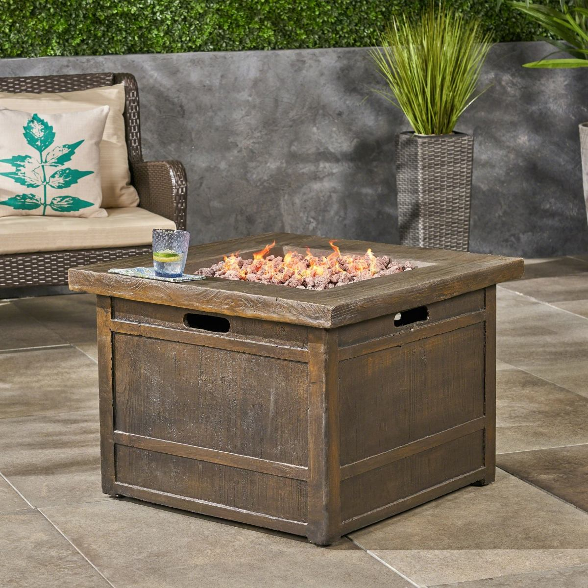 square fire pit design