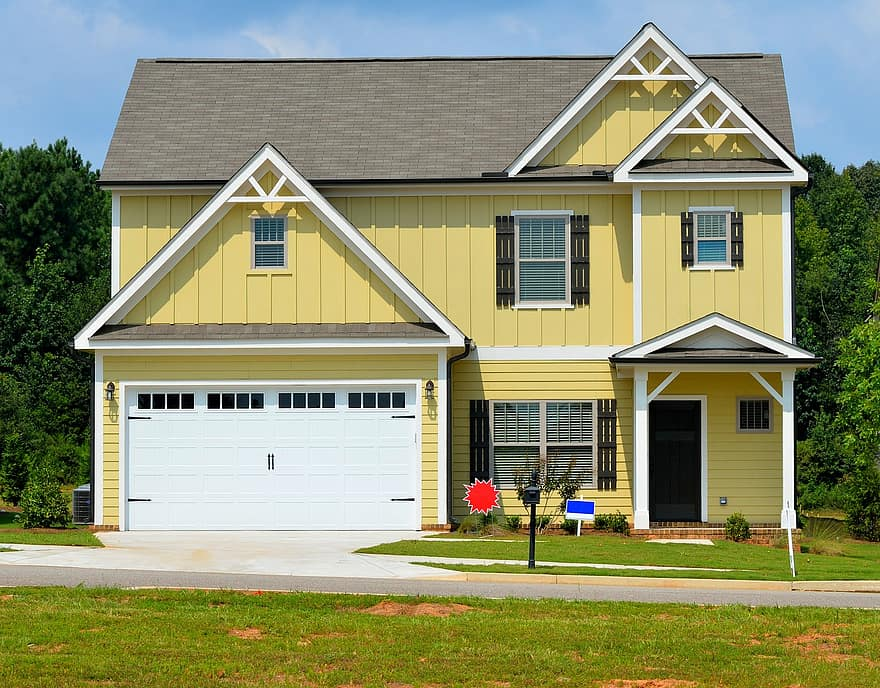 landscaping front yard house home suburb driveway mortgage family entrance realty lawn