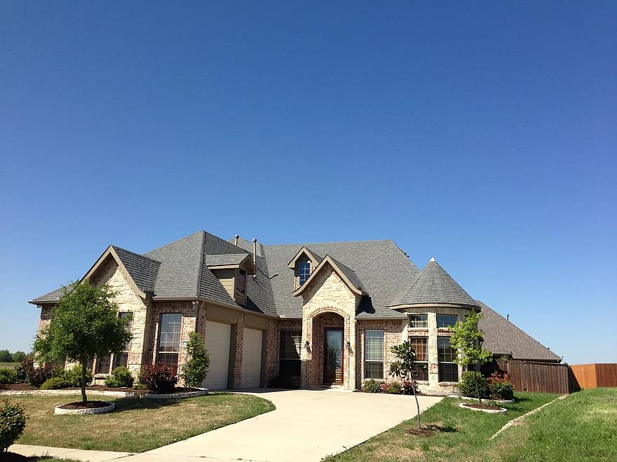 landscaping front yard real estate architecture home house buildings houses dream house building