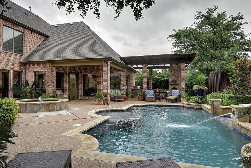 pool backyard pool swimming backyard patio family 1