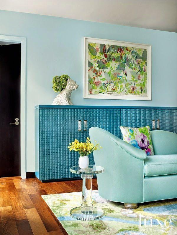 9 fotos de decoracin de salas en color aguamarina