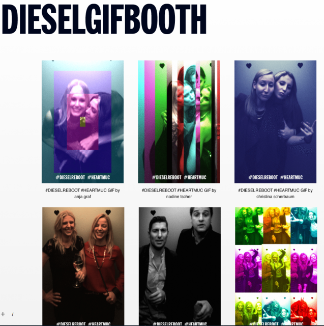 Diesel GIF Booth, Adverblog
