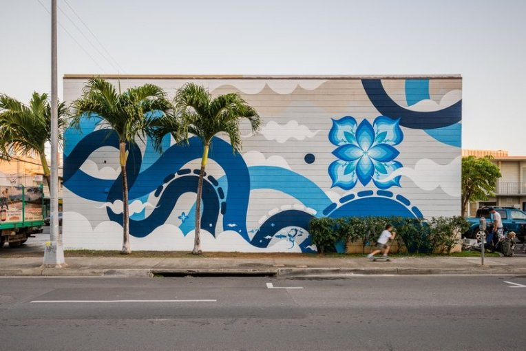 Hitotzuki mural from the POW! WOW! festival in Hawaii