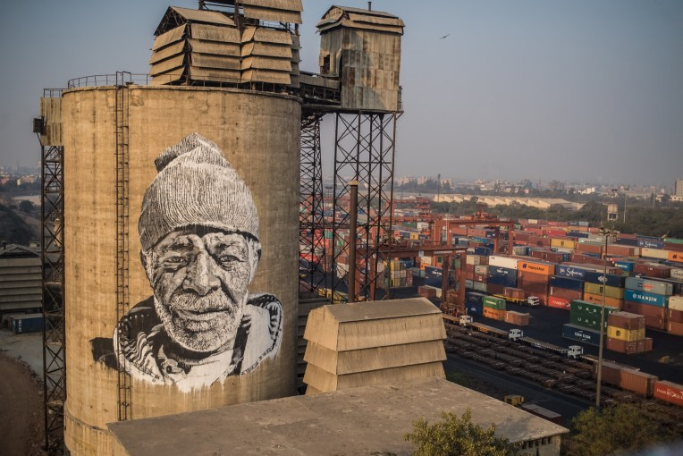 Hendrik Beikirch mural in New Delhi