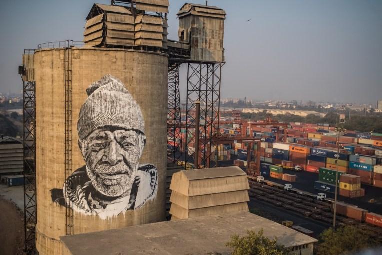 Hendrik Beikirch mural in New Delhi