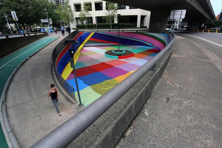 MOMO mural at 1 York Street, downtown Sydney