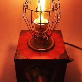 Steampunk lamp, vintage lamp, gift, cage