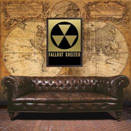 Fallout Shelter sign, poster, wall art, fallout, art