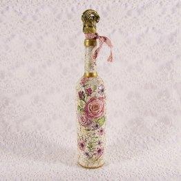 decorative bottle, cracked bottle