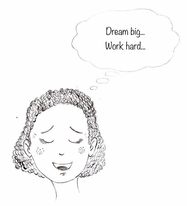 fillette en train de rêver