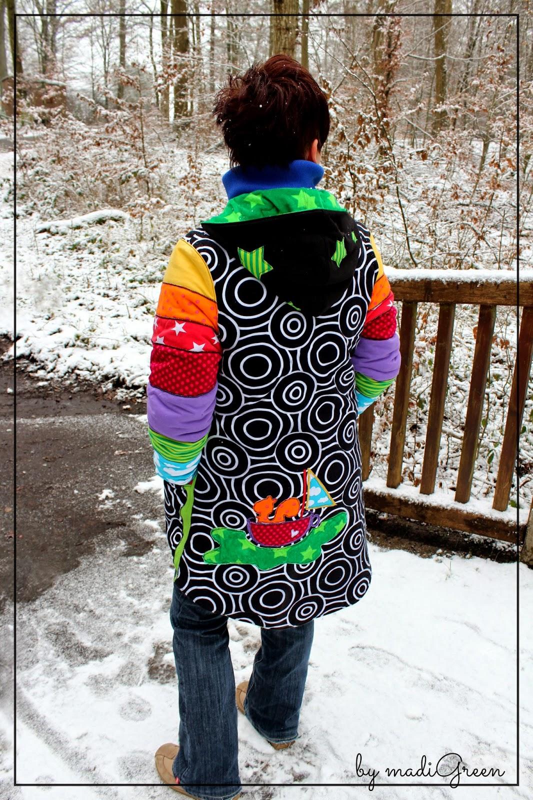 Jadela Mantel Damen Schnittmuster nähen farbenmix