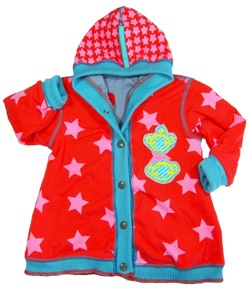 Sweater-Schnittmuster zur Jacke abwandeln, Jerseyjacke für Kinder nähen Kuschelbasics