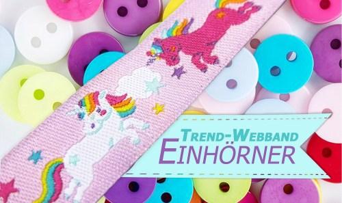 Einhorn-Webband