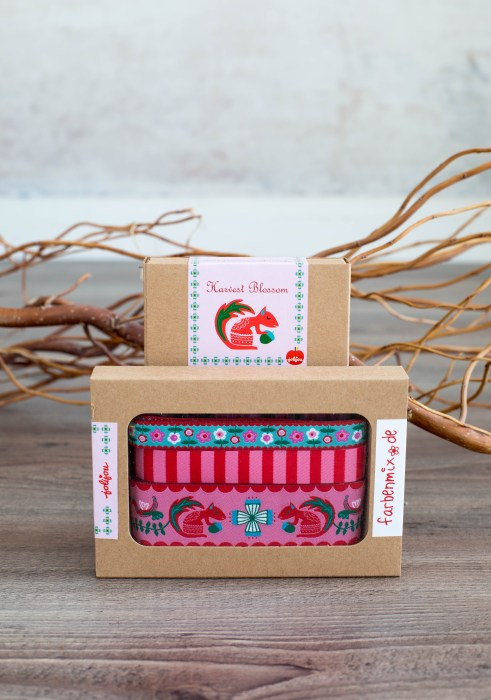Harvest Blossom in pink - Designer Kollektion Jolijou für farbenmix Bortenbänder Webbänder Borten