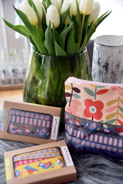 Frau kaeptn Designbeispiel farbenmix Borten designerkollektion Lila Lotta Jolijou