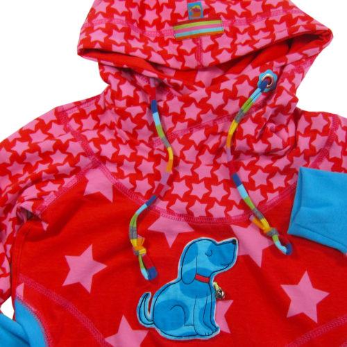 Sonderverkauf Jersey Big Stars und Staaars pink rot - exklusiv nur bei farbenmix