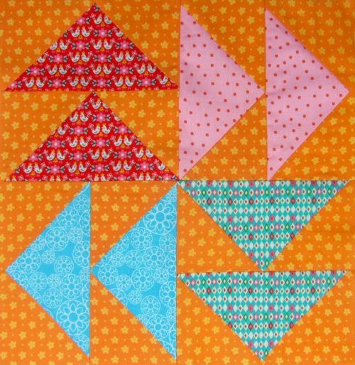 Dutchman's Puzzle - 6 Köpfe 12 Blöcke - Beispiel Mai von Sabine von farbenmix