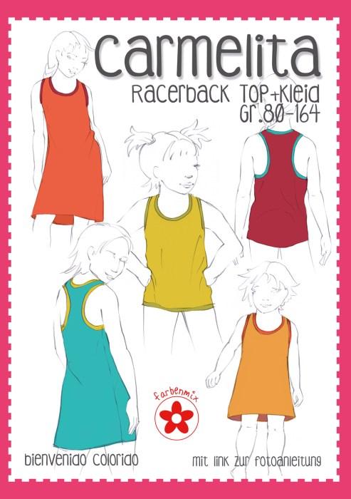 Carmelita Racerback Schnittmuster näh dir ein luftiges Oberteil oder Kleid - Anleitung schnitt Ebook und Papierschnittmuster von bienvenido colorido über farbenmix