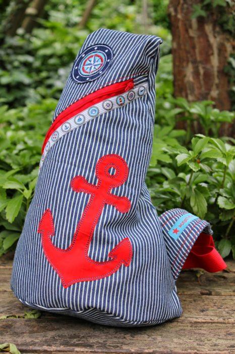 wunsch-kind zeigt uns diese tolle maritime crossbag Schnitt Ebook crossbag farbenmix
