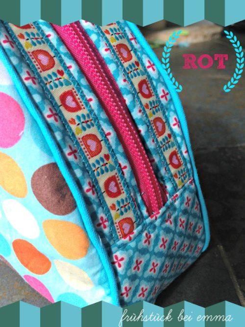 Frühstück bei Emma ROT - Beispiel für das Ebook 6 Kleintaschen von farbenmix