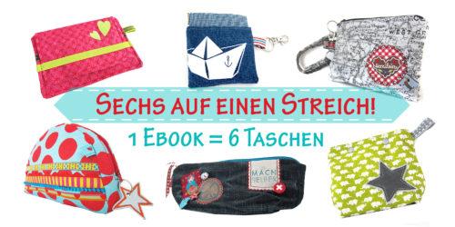 Taschenspieler 6 Kleintaschen Ebook - jetzt neu bei Farbenmix zum Einführungspreis.