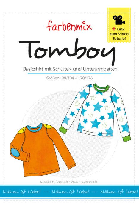 Pattenshirt Tomboy - jetzt mit überarbeiteter Schritt für Schritt Fotoanleitung und Videoanleitung - für Mädchen und Jungs