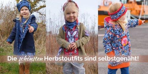 Herbstoutfits selber nähen - mit den Schnittmuster für Kinder von farbenmix