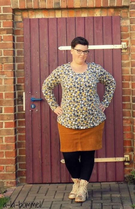 a-la-bommel trägt big lady leana design von mialuna - Papierschnittmuster über farbenmix
